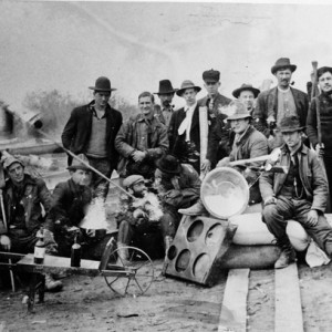 A group of prospectors and miners, Cobalt camp, ca. 1906
