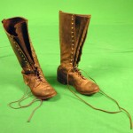 A pair of leather boots