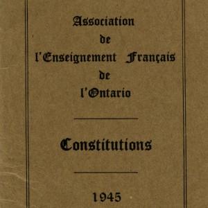 C50-C50-1-1_Constitutions de l'Association de l'ensignment français de l'Ontario