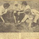 Excavation du site St. Ignace II_1958