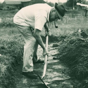 Excavation of Ste-Marie I site_1951