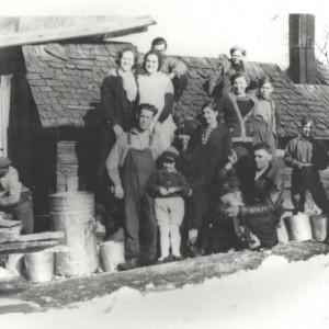 La cabane à sucre de M. Bruno Villeneuve_1943
