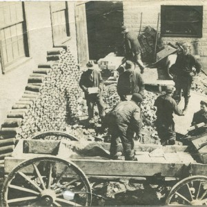Men loading silver ore onto wagons_ca.1900