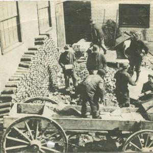 Men loading silver ore onto wagons_ca.1900