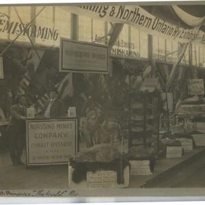 Nipissing Mine Exhibit, location unknown, ca. 1900