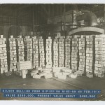 Silver bullion from Nipissing Mine, 1914